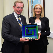 Sheila Moran with Enda Kenny