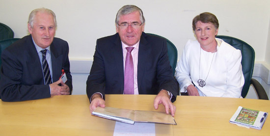 Margaret Sweeney, David Curran and Tom Hayes